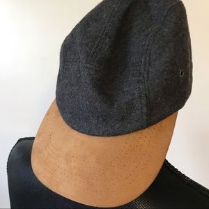 Men's Gray And Brown Baseball Cap